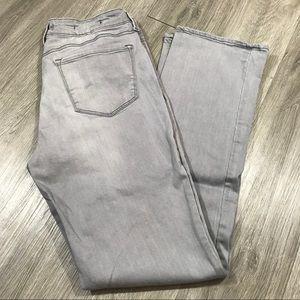 NYDJ Gray Marilyn Straight Leg Jeans size 12